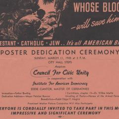 Invitation card to Whose Blood - Will Save Him