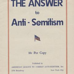 Booklet cover for Answer to Anti-Semitism