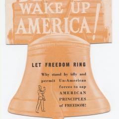 Brochure cover for Wake up America!