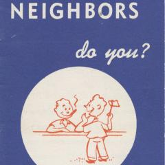 Booklet cover for I Know My Neighbors