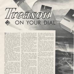 Pamphlet cover for Treason on Your Dial