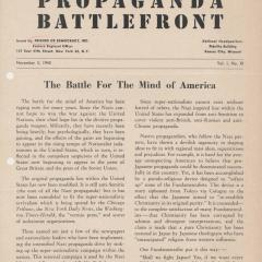 Newsletter page for Propaganda Battlefront