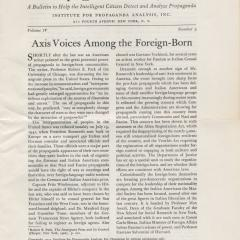 Newsletter page for Propaganda Analysis