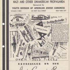 Brochure for Exhibit of Nazi and other Unamerican Propaganda