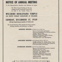 Flier for Los Angeles Jewish Community Council