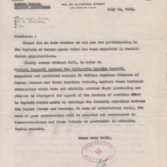 Letter from Paul Themlitz to Fisch Department Store