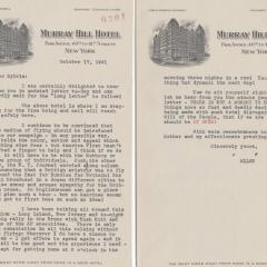 Letter from Laura Ingalls to Sylvia Comfort