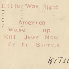 Postcard for Hitler Was Right