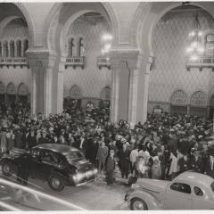 Photograph of a street scene from the Dorothy Thompson Lecture