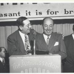 Photograph of Mendel Silberberg and Rabbi Edgar Magnin