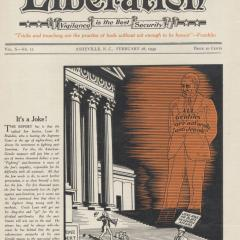 Magazine cover for Liberation