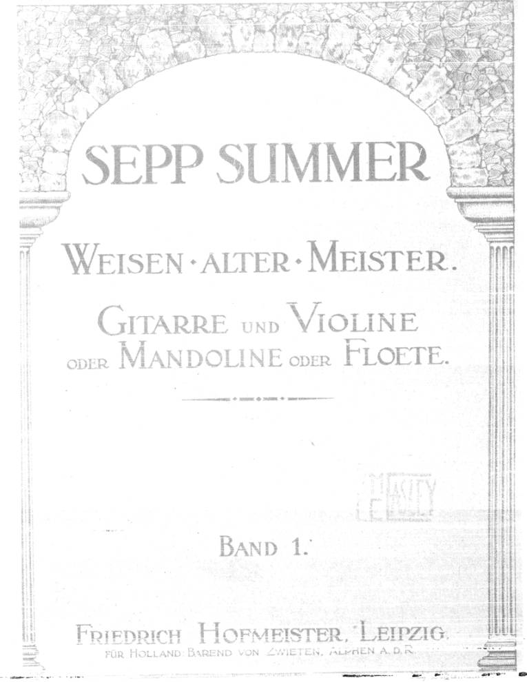 Page cover for Weisen alter meister, band 1