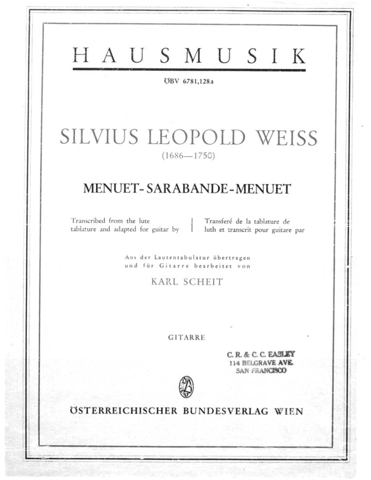 Page cover for Menuet