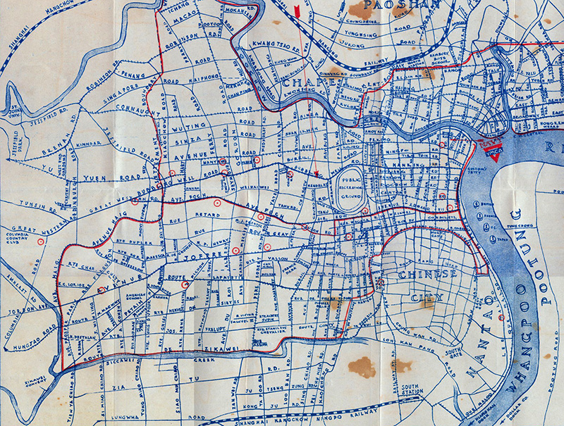 Old map of Shanghai