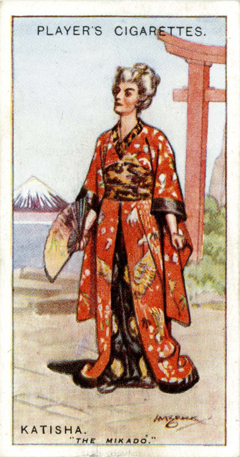 Katisha character from Gilbert and Sullivan opera 'Mikado'