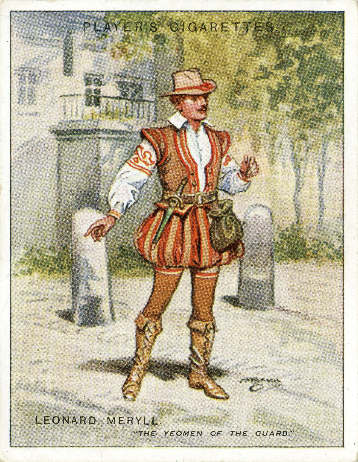 Character Leonard Meryll from Gilbert and Sullivan opera 'The Yeomen of the Guard'