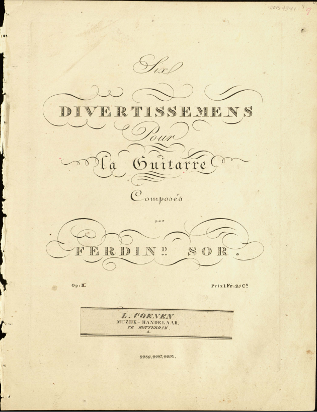 Page from Six divertissemens, op. 2