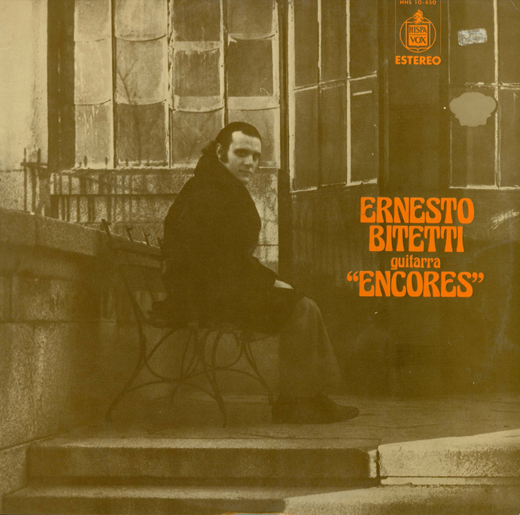 Album cover for Ernesto Bitetti, guitarra 'encores'