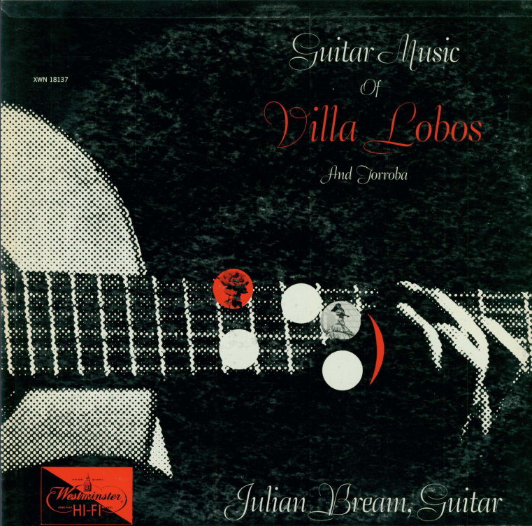 Album cover for Guitar music of Villa Lobos and Torroba