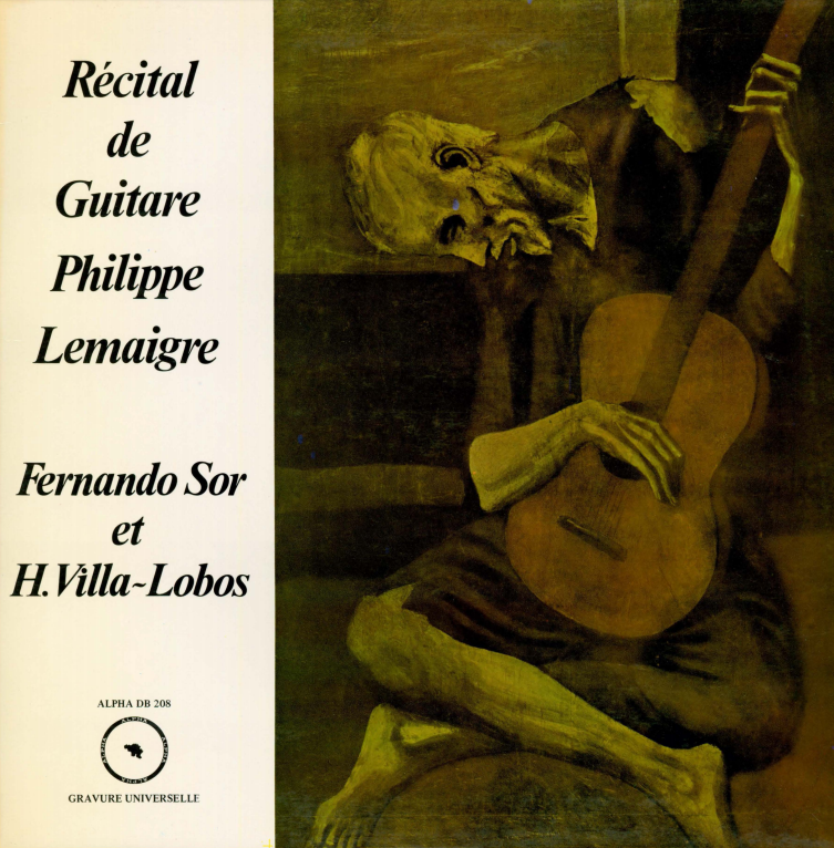 Album cover for Récital de guitare Philippe Lemaigre