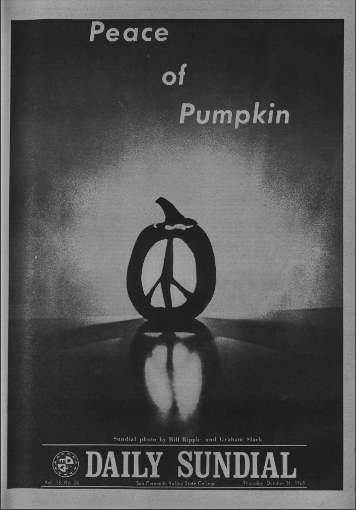 Front page for Daily Sundial, October 31, 1968