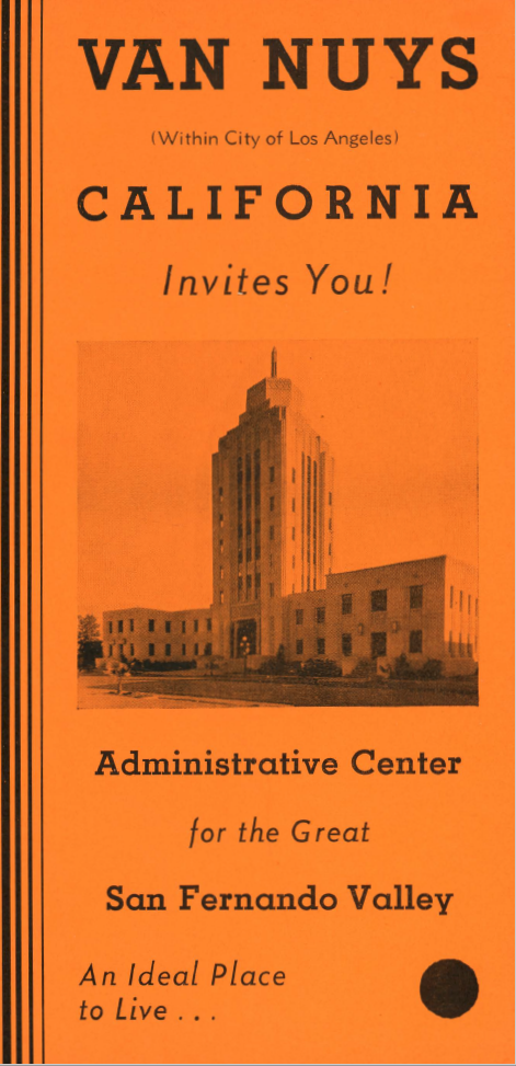 Pamphlet promoting residence in Van Nuys